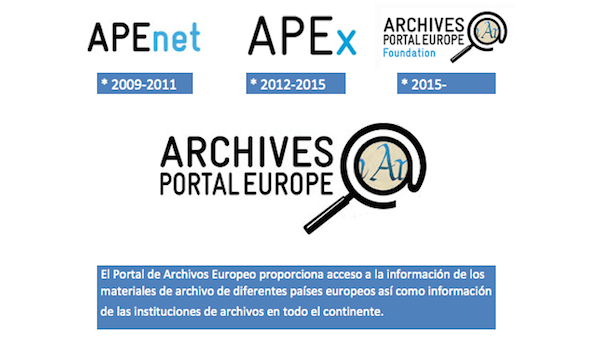 Portal de Archivos Europeo: Proyectos  APEnet, APEx y Fundación APEF